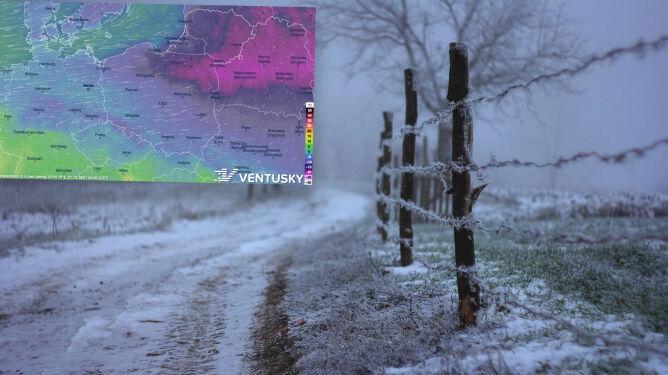 """Pogoda na 5 dni: mroźne masy powietrza płyną """"rynną"""" z Arktyki. Aura """"piękna, ale trudna"""""""