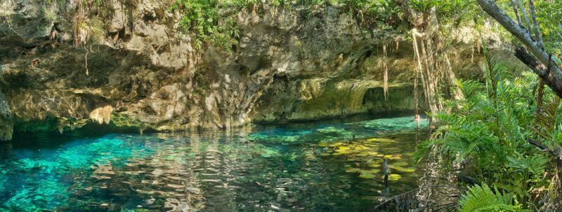 Gran Cenote - wejście do systemu jaskiń (Shutterstock)