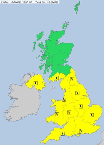 Aktualne ostrzeżenia meteorologiczne w Wielkiej Brytanii (meteoalarm.eu)