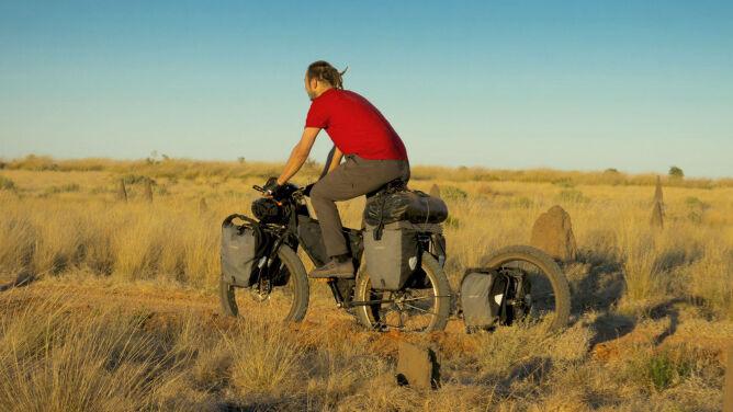 Rowerem pokonał australijskie pustynie. 2 tys. km w 29 dni