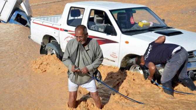 Powodzie w Egipcie. <br />26 ofiar śmiertelnych