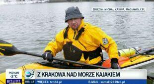 """Wywiad z kajakarzem wiozącym """"List w butelce"""" (TVN24)"""